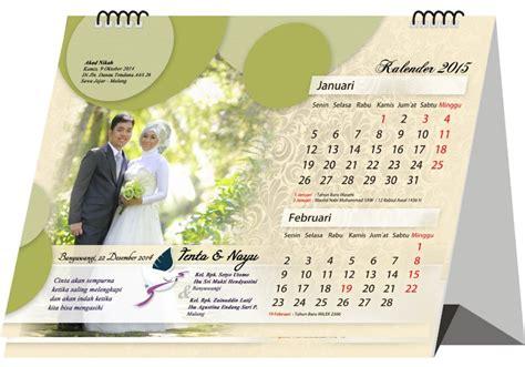 Kalender Pernikahan 24 undangan pernikahan kalender terpopuler 2018 undangan