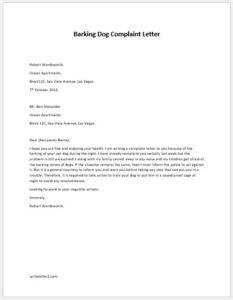 Barking Letter barking complaint letter to writeletter2