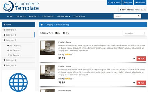 bootstrap ecommerce template bootstrap themes on