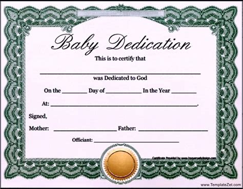 baby dedication certificates templates floridaframeandart tremendeous baby dedication