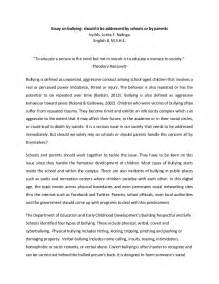 Essay Exles About by Essay On Bullying