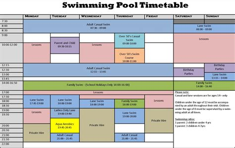 swimming pool timetable queen marys college