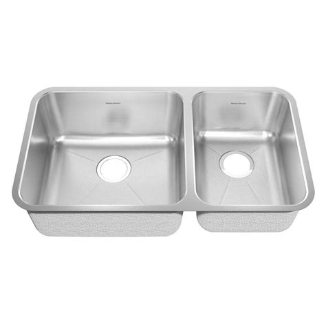 American Standard Stainless Steel Kitchen Sinks American Standard Prevoir Undermount Brushed Stainless Steel 33 In Bowl Kitchen Sink