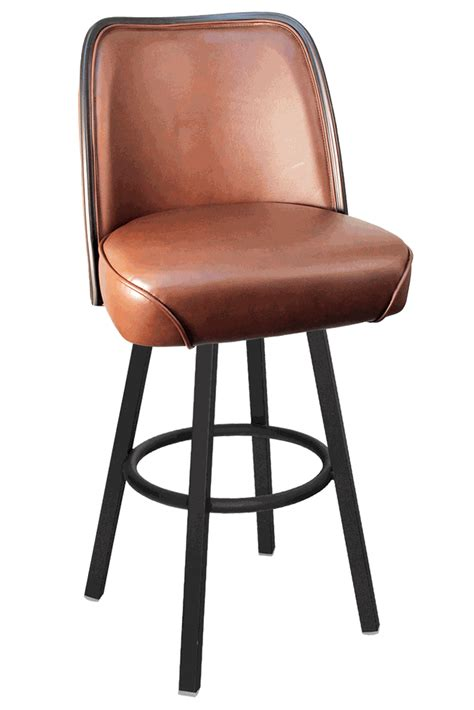 Gladiator Commercial Bar Stools by Gladiator Commercial Brown Seat Bar Stool W Black