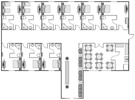 budget hotel design layout basic floor plans solution conceptdraw com