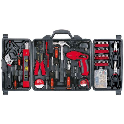 apollo 161 household tool kit with 4 8 volt