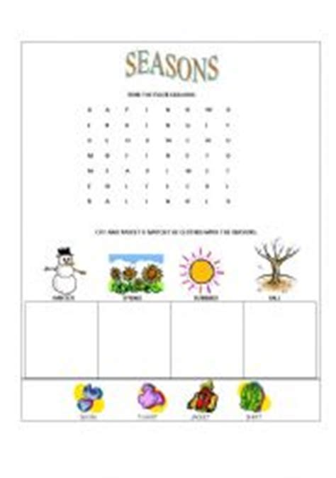 clothes for different seasons worksheet english worksheets seasons and clothes