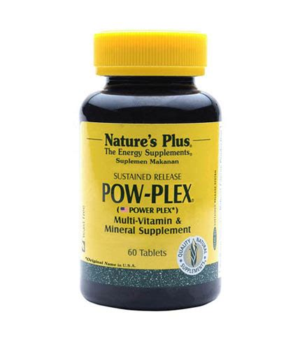 Natures Plus Pow Plex 60 Tablet natures plus pow plex 60 tablet gogobli