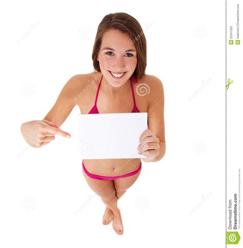 Bank Design Floor Plan by Young Woman In Pointing At Blank Sign Stock Photos