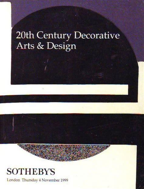20th century design klotz sotheby s 20th century decorative arts and design london 11 4 99 sale 9318 auction catalogs