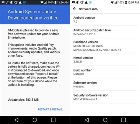 android security patch t mobile lg v20 receiving update with security patches tmonews