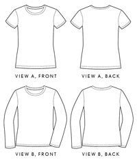 sewing patterns t shirts women s digital women s metro t shirt sewing pattern shop