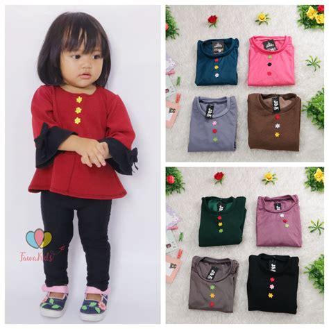 Kaos Karakter Atasan Anak Cewek blouse gisell uk 1 2 tahun baju anak perempuan balita