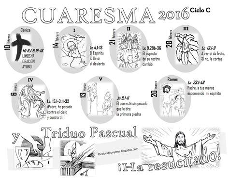 Calendario Quaresma 2016 La Catequesis El De Calendarios Y Caminos