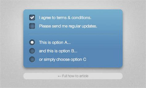 html design radio button jquery plugins for styling checkbox radio buttons