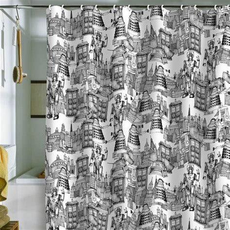 doctor who tardis shower curtain deny designs walking doodle toile de jouy shower curtain