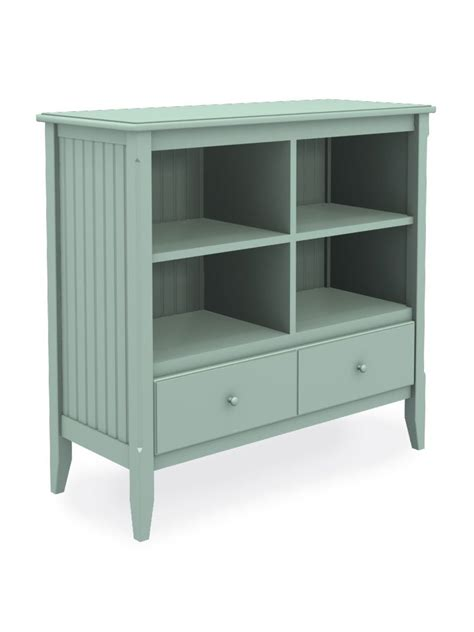 Short And Wide Bookshelf Wide Cottage Cubbie Bookcase With Drawer Cottage Home 174