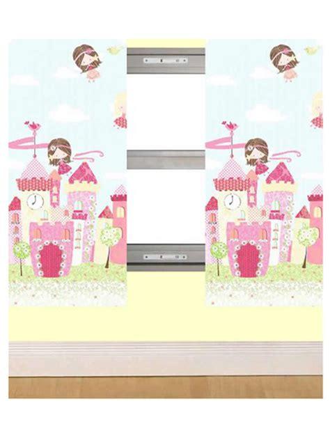 gevoerde gordijnen kant en klaar feetjes kasteel gordijnen paar gordijnen roze prinsessen