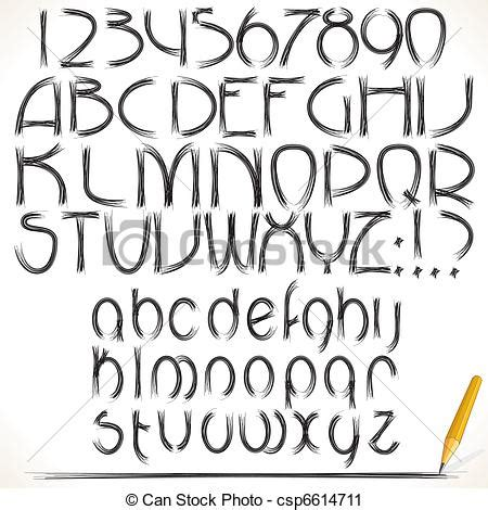 Vector Clip Art Of Drawing Alphabet Pencil Drawing