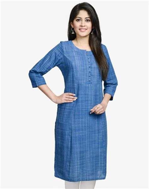 kurta button pattern cotton khadi bijli loop button long kurta salwar