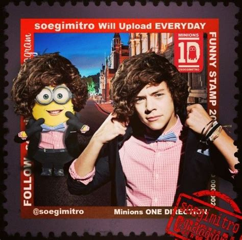 minions de one direction imagines one direction harry minion sts 2013 pinterest