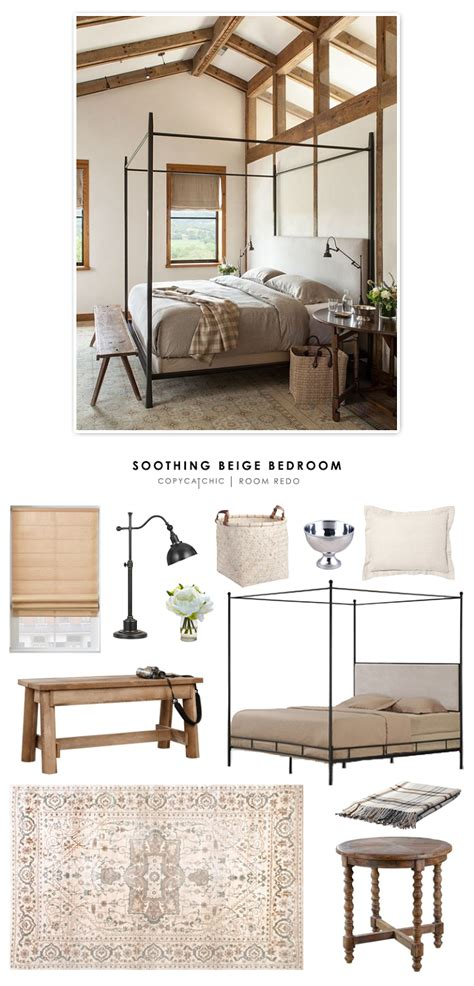 room redo copy cat chic room redo soothing beige bedroom copy