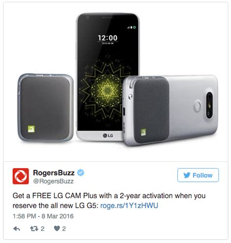 Lg G5 4gb Pre 0rder New lg s modular g5 smartphone is coming to canada on april 8