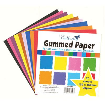 How To Make Paper Gum - gummed paper 20 per pack 150 x 150mm copy house