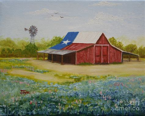 Barns Plans by Texas Hill Country Barn Painting By Jimmie Bartlett