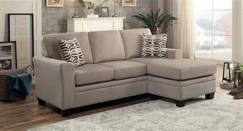 light brown sectional sofa homelegance synnove reversible sectional sofa light