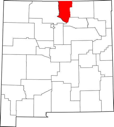 Taos County Property Records File Map Of New Mexico Highlighting Taos County Svg