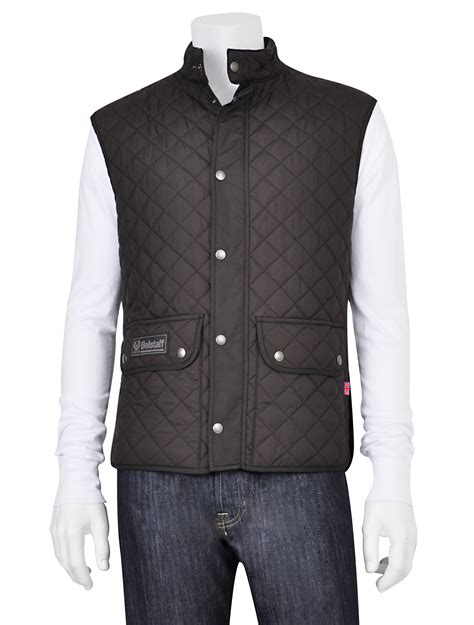belstaff quilted vest in black for lyst