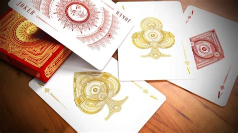 syzygy bicycle 174 cards deck gold