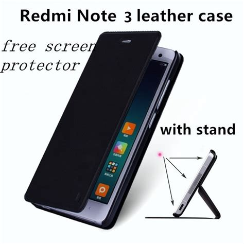 for xiaomi redmi note 3 leather cover luxury flip