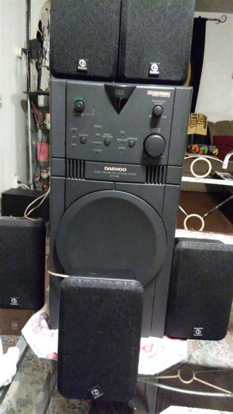 daewoo home theater subwoofer system aht   sale