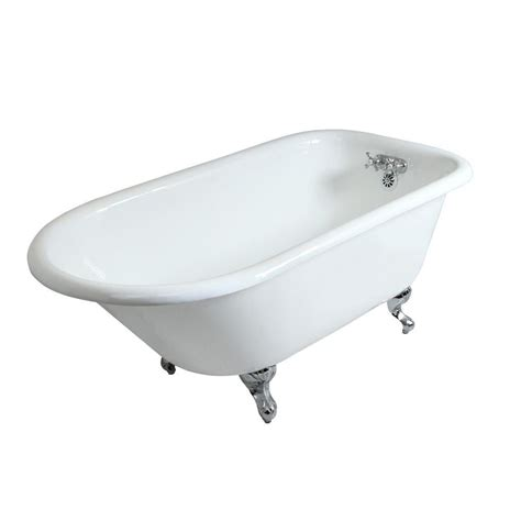four foot bathtub aqua eden petite 4 5 ft cast iron chrome claw foot roll