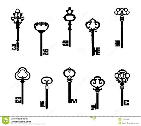 Old Victorian House Plans old antique keys royalty free stock images image 25103159