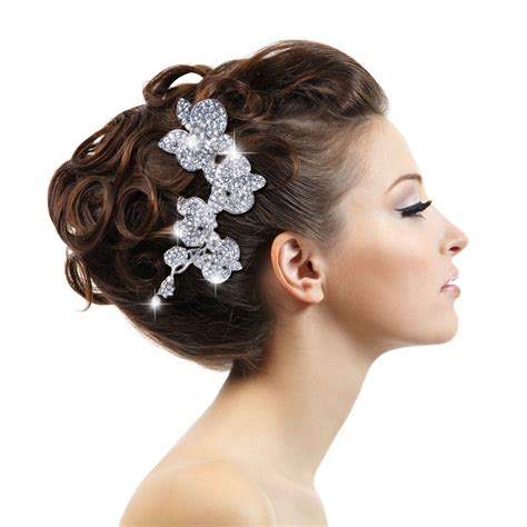 5 Bridal Hair Accessories To by Luxury Wedding Orchid Flower Hair Comb Tiara Clear