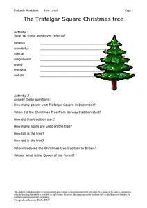 the trafalgar square christmas tree lesson plan for 5th