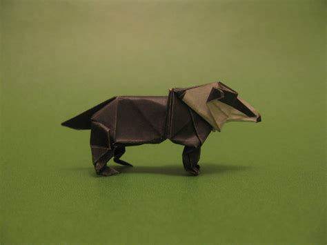 Origami Badger - origami badger by orimin on deviantart