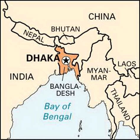 where is dhaka on the world map dhaka encyclopedia children s homework help