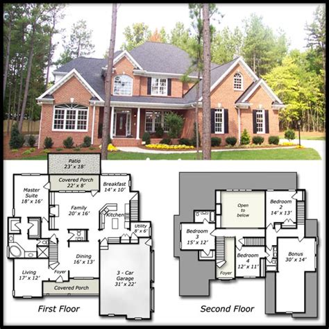 brick home floor plans brick house plans smalltowndjs com