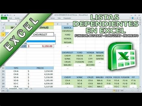tutorial excel buscarv youtube tutorial de excel listas dependientes