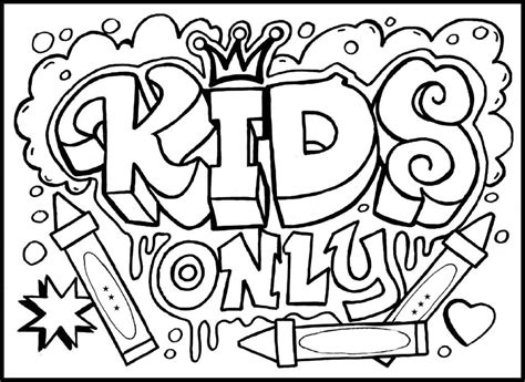 Graffiti Coloring Pages Names printable graffiti coloring pages coloring home