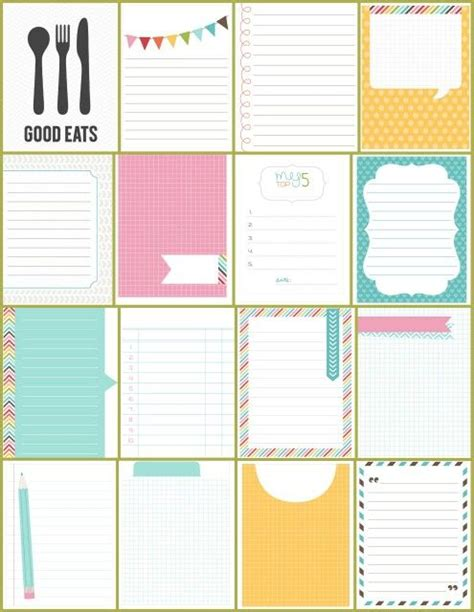 create your own menu template journal cards make your own and make your on