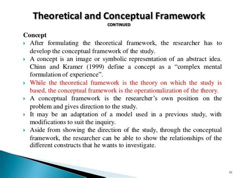 sle of conceptual framework in research paper exle of theoretical and conceptual framework in thesis