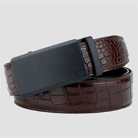 Dressc Moc Croc Buckle Wallet by Genuine American Alligator Leather Dress Belt Automatic Buckle