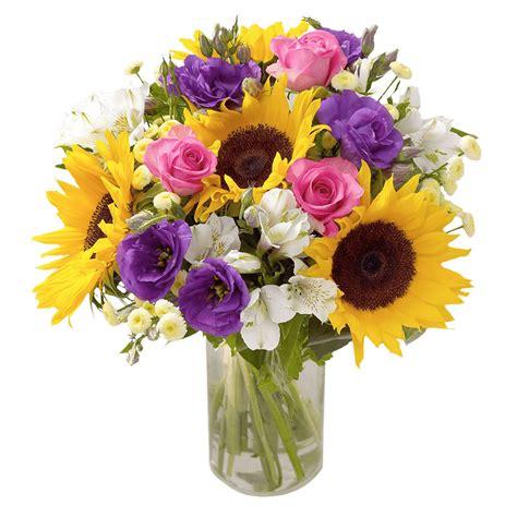 fiori vendita vendita bouquet misto con girasoli fiorionline