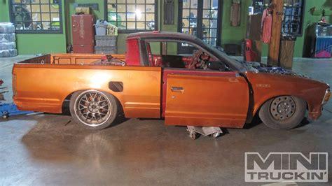 nissan pickup drift 1986 nissan 720 drift core go ez mini truckin magazine