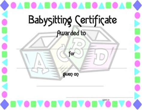babysitting gift certificate template random acts s day and unique gifts on